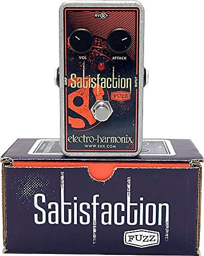 electro harmonix satisfaction fuzz guitar pedal w 9v battery reverb. Black Bedroom Furniture Sets. Home Design Ideas