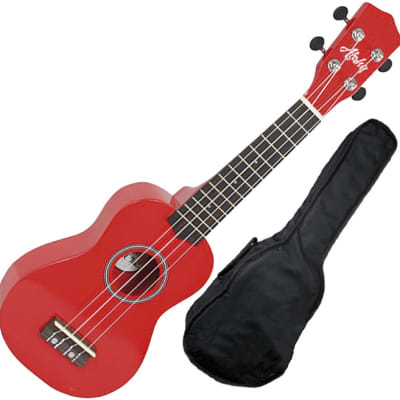 Aloha UK200f RD ukelele soprano rojo con funda for sale