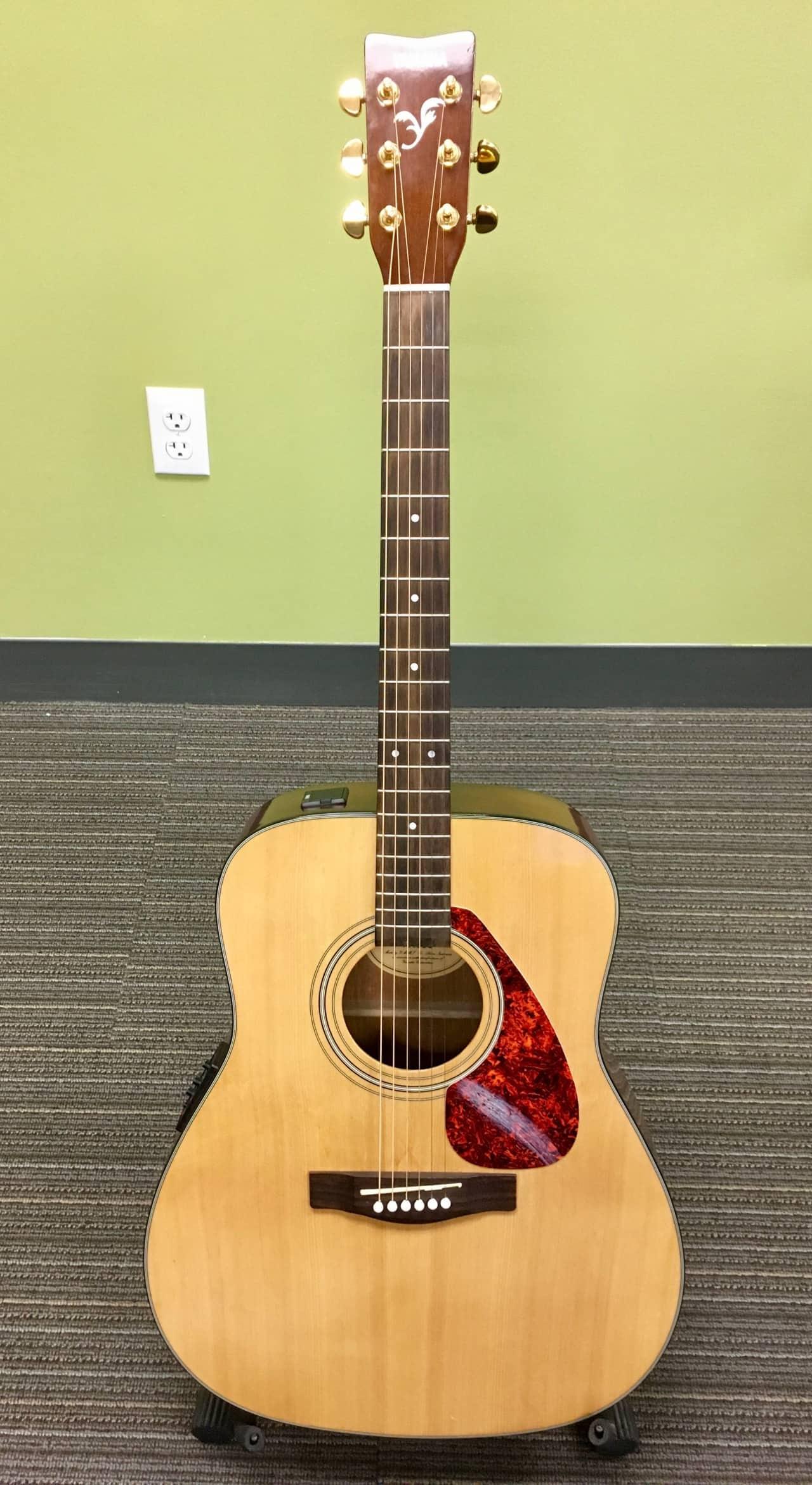 yamaha fx 335 acoustic electric guitar reverb