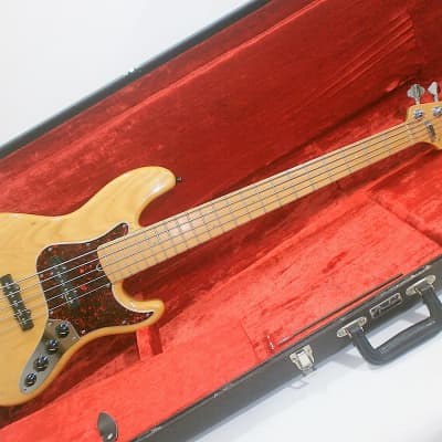 Fender American Deluxe Jazz Bass V  5 Natural 1999 for sale