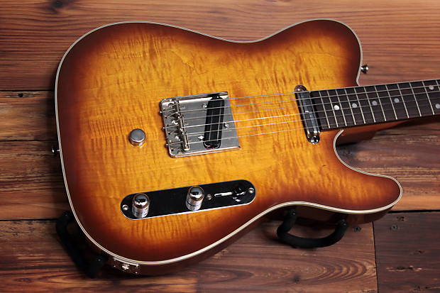B Bender Guitar >> Rice Custom Guitars Custom T Style B Bender Sunburst Reverb
