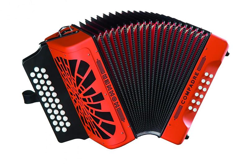new orange hohner compadre diatonic button accordion fbbeb 31 reverb. Black Bedroom Furniture Sets. Home Design Ideas