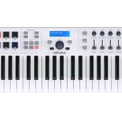 Arturia KeyLab Essential 49 (White) 49-key Keyboard USB MIDI Controller
