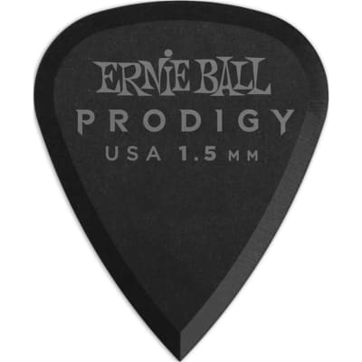 Ernie Ball 9199 Prodigy Standard Pick, 1.5mm, Black, 6 Pack for sale