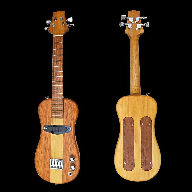 Dean Guitars Ukulele Travel Uke: Fine Ukes HBTRAV102T Tenor Electric Hollow Body Travel Uke