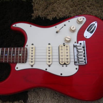 Fender American Deluxe Fat Stratocaster HSS with Rosewood Fretboard 2000 Crimson Transparent +OHSC for sale