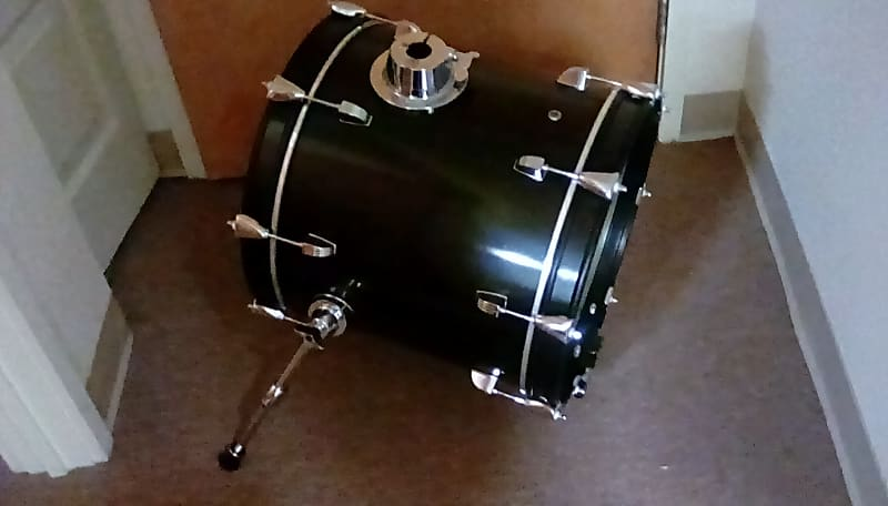 ludwig breakbeats 2018 black sparkle 16 bass drum with reverb. Black Bedroom Furniture Sets. Home Design Ideas
