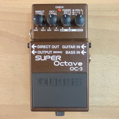 Boss OC-3 Super Octave Pedal - Polyphonic Octave Divider Guitar Effects Pedal - Minty Condition