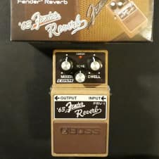 Boss FRV-1 Reverb with box.