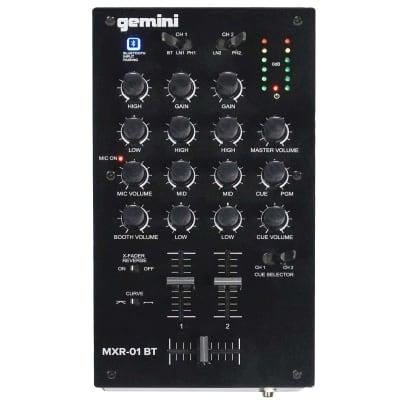 Gemini MXR-01BT 2-Channel 3-Band EQ Professional DJ Mixer w Bluetooth