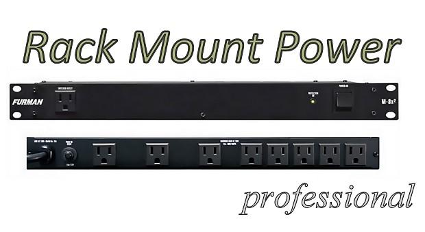 furman m8x ii rack mountable power strip 9 outlets ac reverb. Black Bedroom Furniture Sets. Home Design Ideas