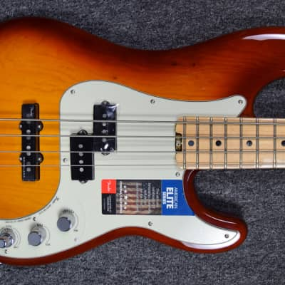 Fender American Elite Precision Bass, Tobacco Burst, Minor Cosmetic Flaw = Save $50! NOT Pre-Owned.