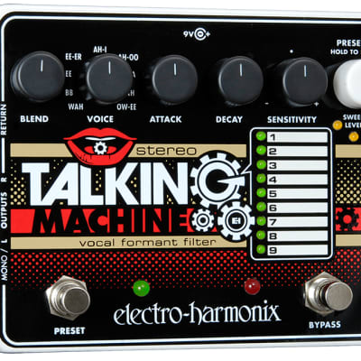 Electro-Harmonix Stereo Talking Machine Vocal Formant Filter Pedal