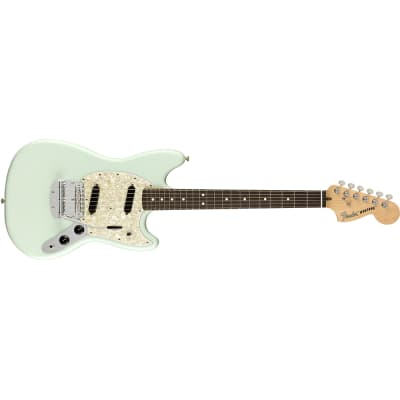 Fender American Performer Mustang Electric Guitar Rosewood Satin Sonic Blue