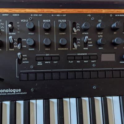 Korg Monologue Monophonic Analog Synthesizer 2010s Black