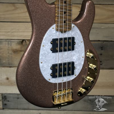 Music Man BFR StingRay Special 4-String Bass Striking Pink Champagne Sparkle w/ Case
