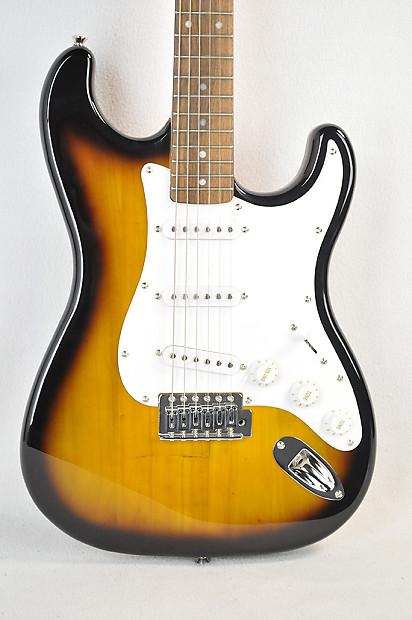 new fender starcaster stratocaster electric guitar sunburst reverb. Black Bedroom Furniture Sets. Home Design Ideas