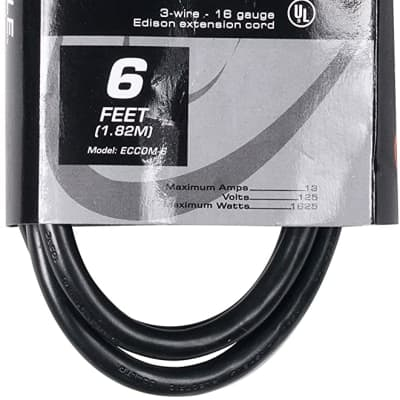 Accu-Cable ECCOM6 IEC Power Extension Cable - 6'