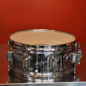"Rogers PowerTone 6.5x14"" 8-Lug Chrome Over Brass Snare Drum 1963-1973"