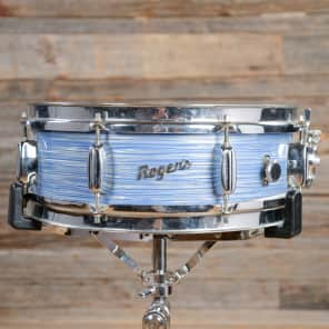 """Rogers Holiday 5x14"""" 8-Lug Wood Snare Drum with Bread and Butter Lugs Early 1960s"""
