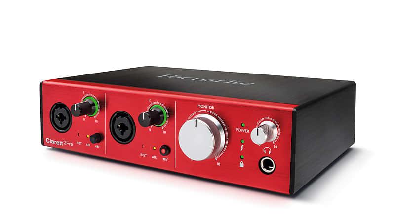 New Focusrite Clarett 2Pre USB 10x4 Desktop Audio Interface