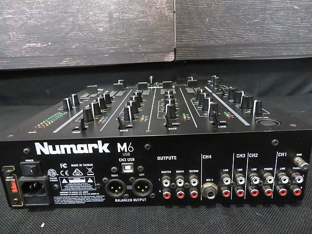 Numark M6 USB 4-channel DJ Mixer   Sam Ash Richmond