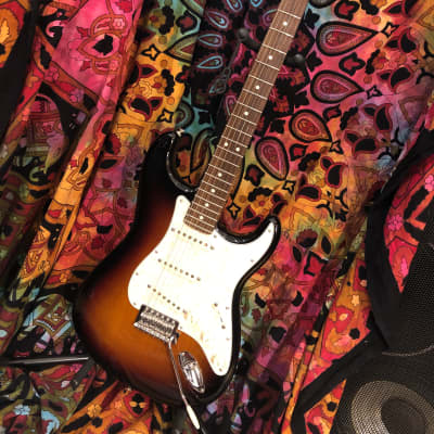 Fender Deluxe Player Stratocaster 2013 Brown Sunburst(w/gig bag) for sale