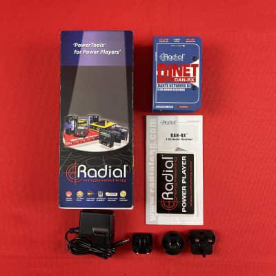 [USED] Radial DiNET DAN-RX 2-Channel Dante Network Receiver (See Description).