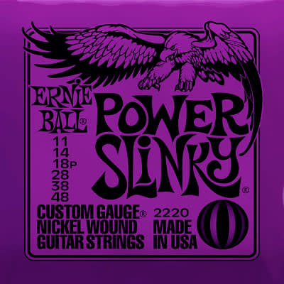 Ernie ball Slinky Nickelwound Power Slinky Guitar Strings 11 - 48 for sale