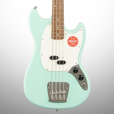 Squier Classic Vibe '60s Mustang Electric Bass, Laurel Fingerboard, Surf Green
