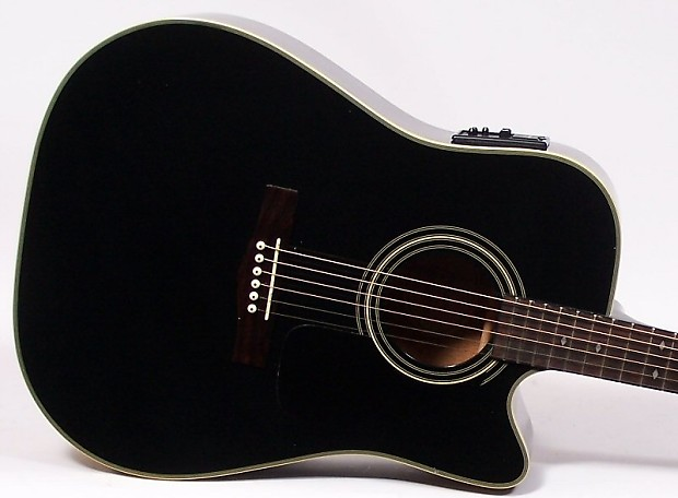 f3a7f4dd4e7 Fender DG31SCE ACOUSTIC ELECTRIC GUITAR W/HARD CASE MADE IN | Reverb