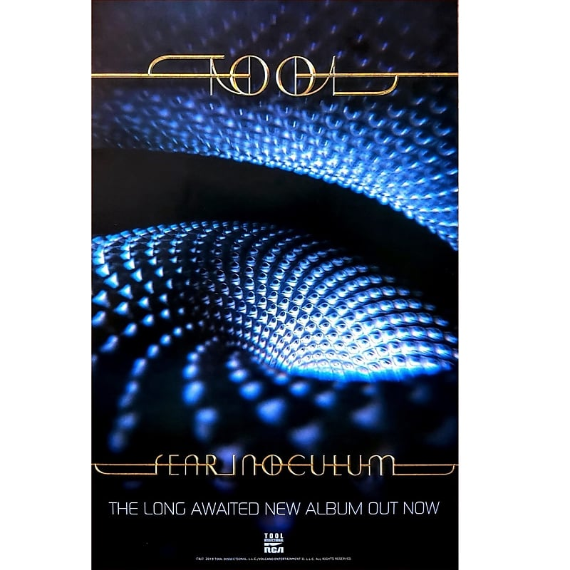 Fear Inoculum Ltd Ed New RARE Poster Display! Prog