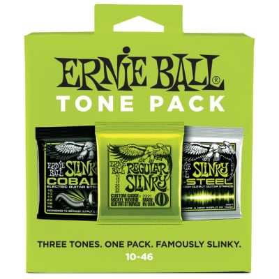 Ernie Ball Regular Slinky 10-46 Electric Guitar String Tone Pack