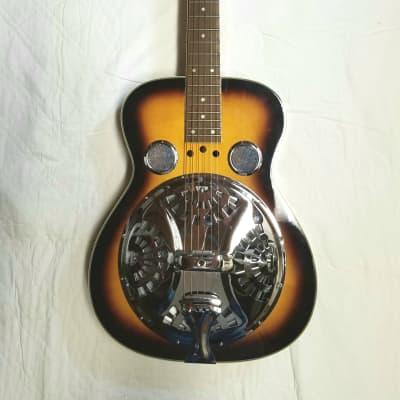 Flinthill Dobro resonator guitar Tobacco Burst