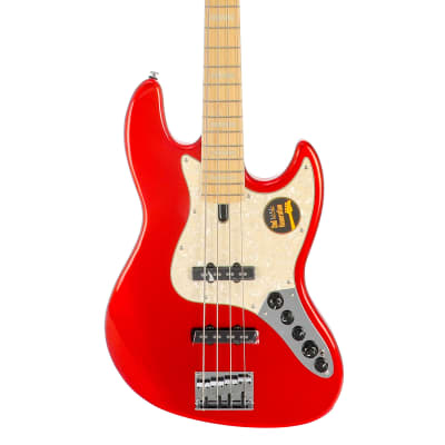 Sire Marcus Miller V7 Swamp Ash 4 (2nd Gen) Electric Bass Guitar - Bright Metallic Red for sale