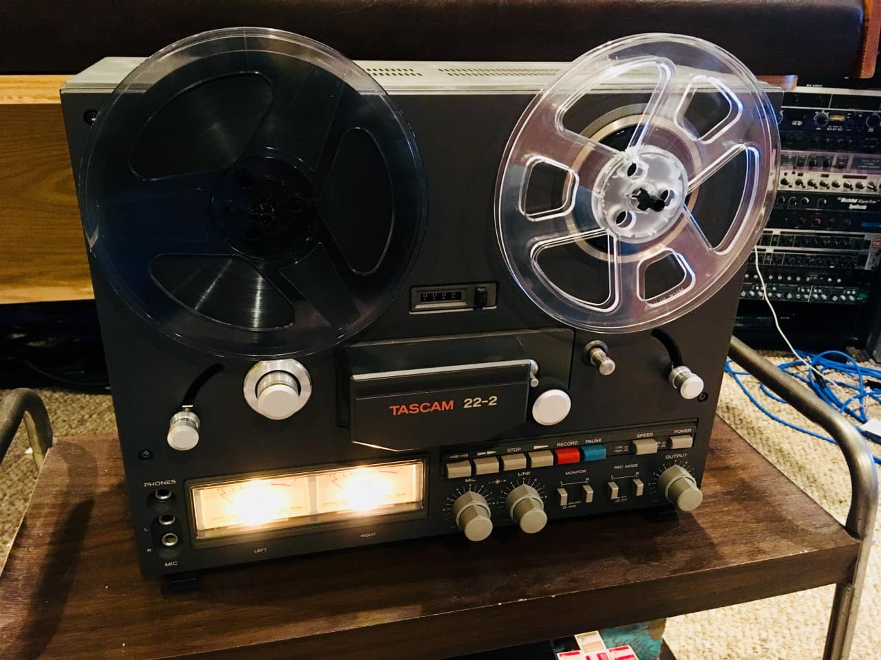 Art Line Level Converter : Tascam 22 2 pro reel to 15 ips ⭐ tape machine w art reverb