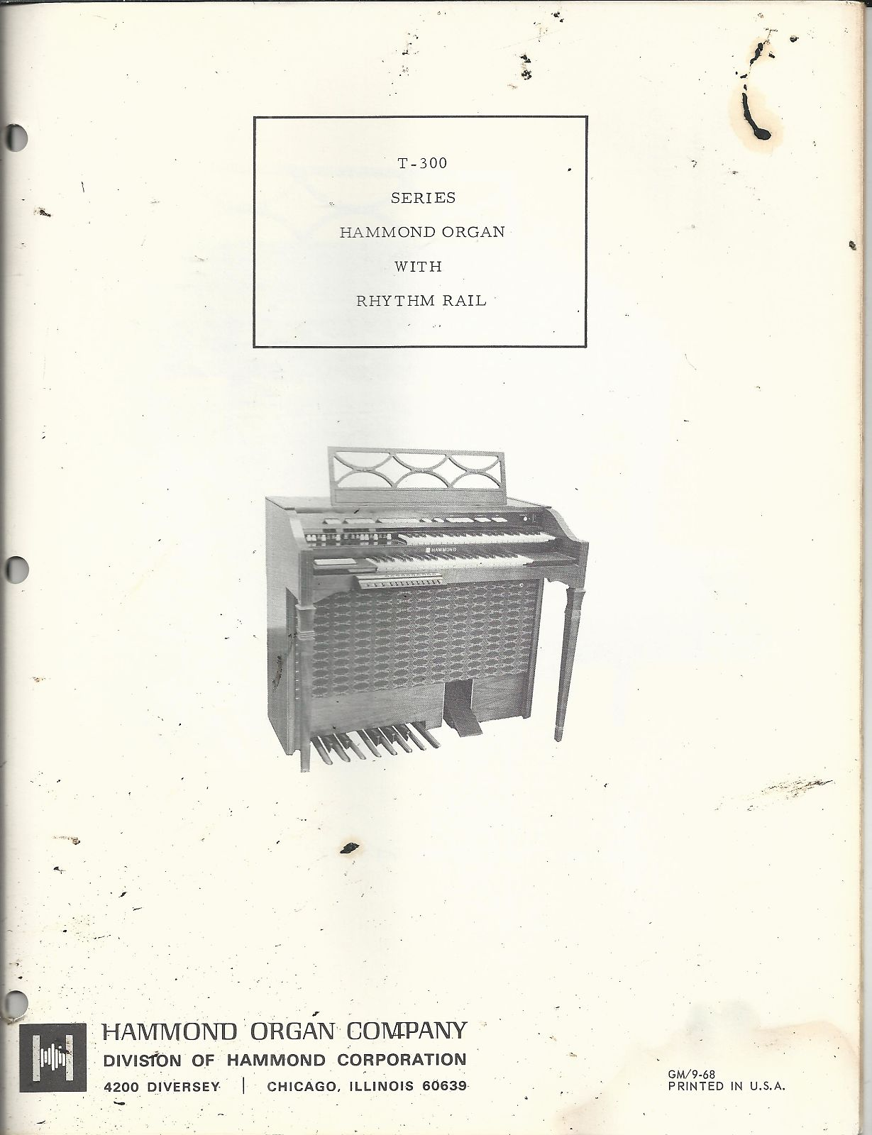 Hammond Series T-300 Service Manual 60's on