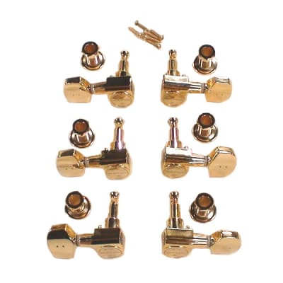 Graph Tech Ratio Tuned Machine Heads 3+3 Acoustic 2 Pin Contemporary PRN-2411-G0 - Gold for sale