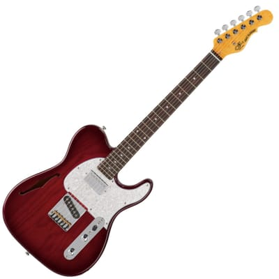 G&L Tribute Series ASAT Classic Bluesboy Semi-Hollow -Red Burst- for sale
