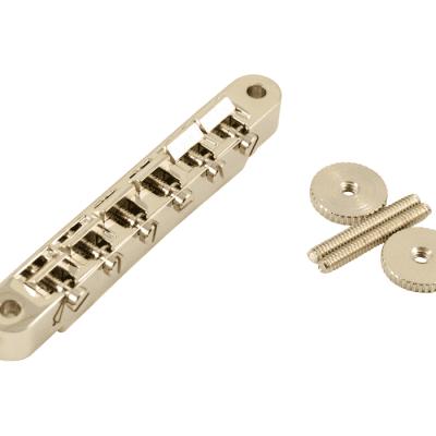 Kluson wired Abr-1 Nickel w nickel brass saddles made in USA fits Gibson USA KABRW-N image