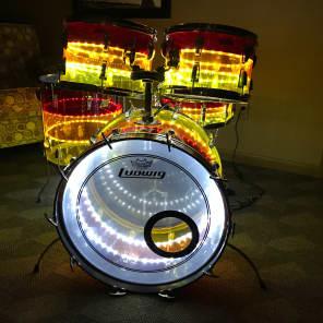 "Ludwig Vistalite Tivoli ""Tequila Sunrise"" 9x13"" / 10x14"" / 16x16"" / 14x24"" / 5x14"" 5pc Lighted Acrylic Kit"