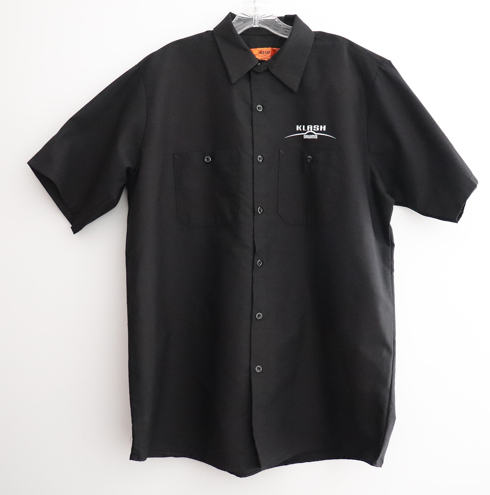 Klash Drums Button Up Work Shirt Black