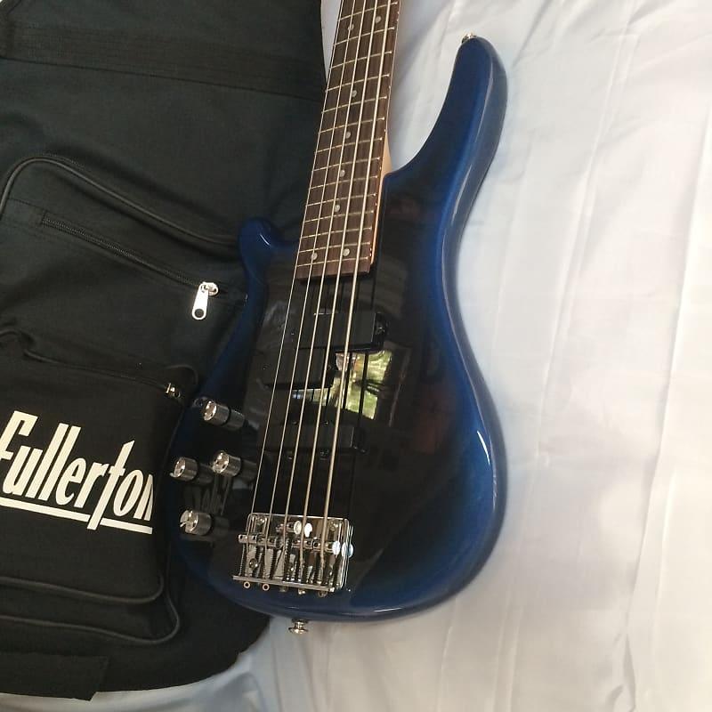 left handed fullerton 5 string blue burst bass guitar reverb. Black Bedroom Furniture Sets. Home Design Ideas