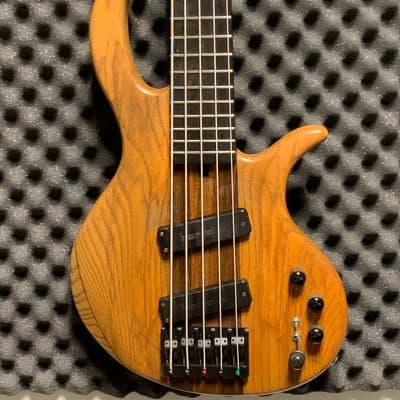 Elrick  5-String Bass, Thru-Neck, Bartolini  Pickups,Mid 90's ,Natural Finish for sale