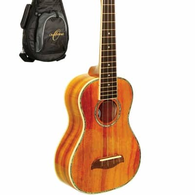 Oscar Schmidt OU5K Koa Top Wood Concert Size 4-String Ukulele w/Gig Bag