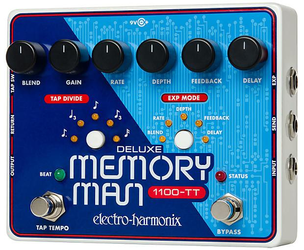 Electro-Harmonix Deluxe Memory Man 1100-TT Tap Tempo New From Dealer! Free  International Shipping!