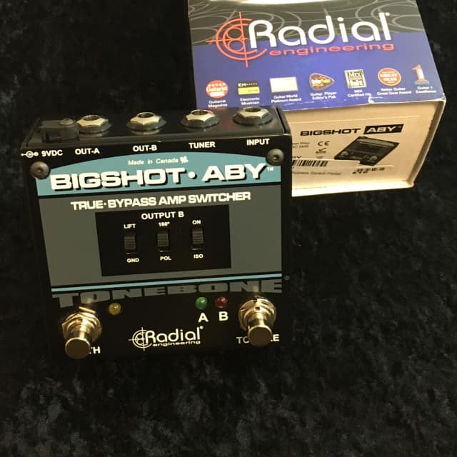 Radial BigShot ABY v2 w LED lights ~ True Bypass Amp Switcher ~ VG+ image
