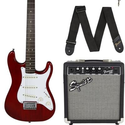 Fender Squier Short Scale 24-Inch Strat Pack - Transparent Red