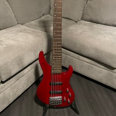 Copley 6 String Bass Red for sale