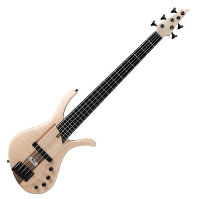 Ibanez AFR5FMP-NTF Premium Affirma 5 String RH Electric Bass with Case-Natural Flat for sale